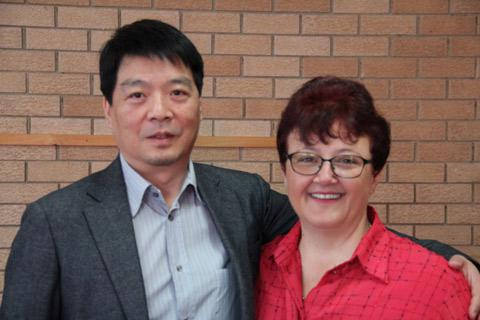 Xu Da Wei (China) and Tania Lukic-Marx